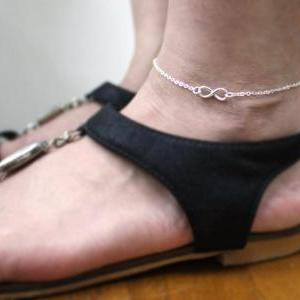 Sterling Silver infinity anklet,Tin..